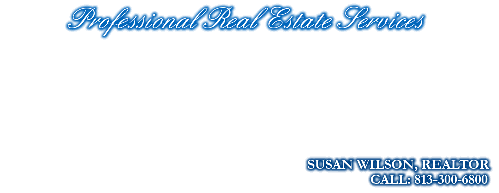 Professional Real Estate Services, SUSAN WILSON, REALTOR, CALL: 813-300-6800